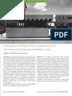La arquitectura educacional de los sesenta en Cuba