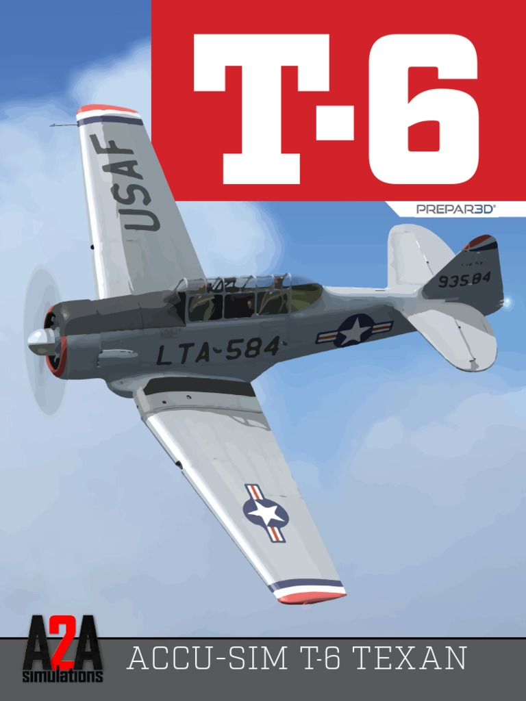 A2A T-6 Pilot's Manual P3d | Trainer (Aircraft) | North