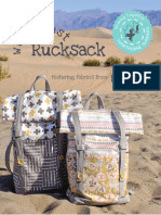 Rucksack Backpack Instructions Pattern