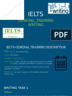 General Training Writing7219 161117012118