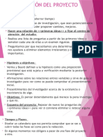 PLANIFICACIÓN DEL PROYECTO DE TESIS
