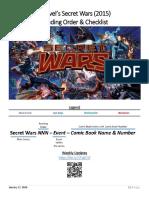Secret Wars 2015 Reading Order