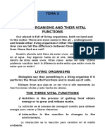 Living Organisms and Their Vital Functions