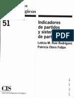 Indicadores de Partidos y Sistemas de Partidos