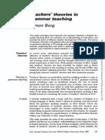 Borg 1999 - Grammar Teaching