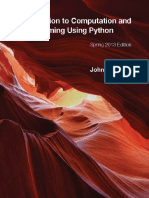 John v. Guttag Introduction to Computation and Programming Using Python