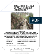 Perfil Canal Acora - Huaytara