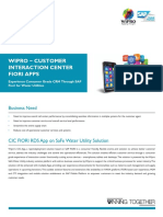 Wipro Customer Interaction Center FIORI Apps