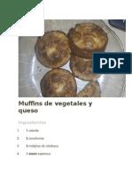 Muffins de Vegetales y Queso