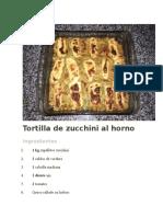 Tortilla de Zucchini Al Horno