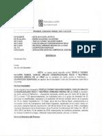 Sentencia por Usurpación contra Carlos Condorcahuana Roca abogado de PROMOTORA OQUENDO.
