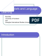 Learner Beliefs and Language Learning
