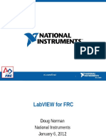 2012 LabVIEW Basics FRC and Whats New