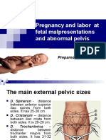 05. Pregnancy and Labor at Fetal Malpresentations and Abnormal Pelvis