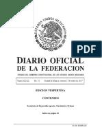 Diario Oficial de la federación mexicana 27012017