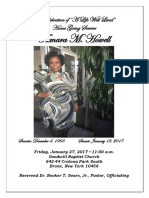 Homegoing Service for Sis. Tamara Howell