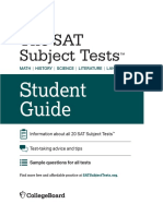 Sat Subject Tests Student Guide