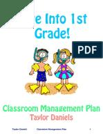 Taylor Daniels Classroom Management Plan