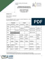 Romana.info.Ro.2397 Olimpiada de Lingvistica, Etapa Judeteana, 23.11.2013