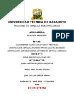 Trabajo n3 de Ecologia-ecosistemas.factores.zonificacion Agricola y Agroecologica