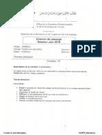 Examen de Passage 2016 TSDEE V3