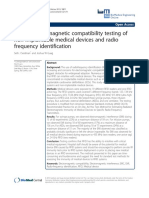 Adhoc Electromagnetic Compatibility Testing of Non-implantable Medical Devices and Radio Frequency Identification
