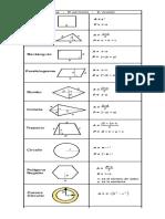 Áreas y Perimetros de Figuras Geometricas