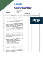 Cuestionario de Auditorã-A Informã-tica