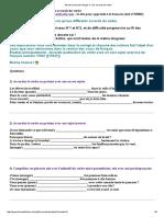 Test de Niveau de Français 3 _ Les Accords Du Verbe