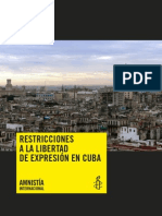 Amnistia Internacional La Libertad de Expresion en Cuba