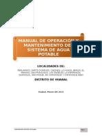 Anexo 2.1 Manual de O&M Agua Potable