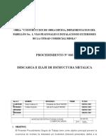 Procedimiento Descarga2 e Izaje de EEMM MIN