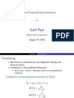 Lecture Notes 07 Forecasting