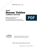 ASME Steam Table