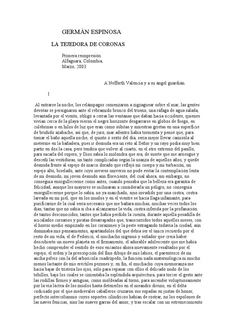 Espinosa German - La Tejedora de Coronas