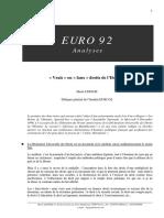 EURO 92 Analyses. «Vrais» Ou «Faux» Droits de l Homme. Henri LEPAGE. Délégué Général de l Institut EURO 92. N 3-15 Décembre 1998