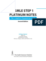 USMLE Platinum Notes Step 1, Second Edition