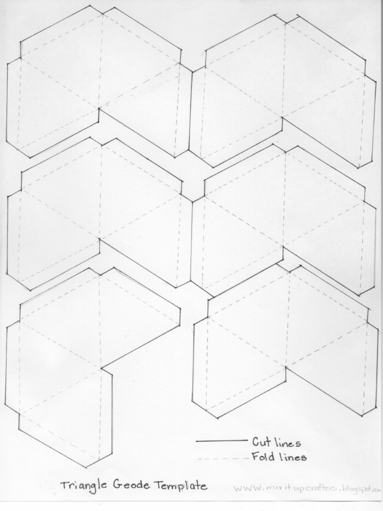 Triangle Geode Template