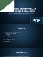 Aula 10 - O Sistema Presbiteriano de Governo