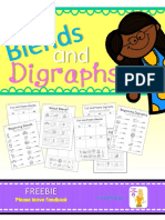 Blends and Digraphs Freebie