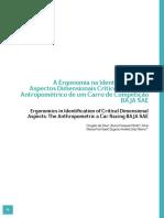 Ergonomia Na Identificação Dos Aspectos Dimensionais Criticios. O Estudo Antropométrico de Um Carro de Competição BAJA SAE