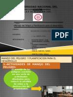 Manejo Del Peligro y Planificacion Para El Desarrollo Informe Final