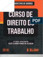 Curso de Direito Do Trabalho Alice Monteiro de Barros 2016