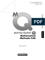 Math Quest Yr 11 Mathematical Methods (Australia Text Book) VCE 2017 Edition