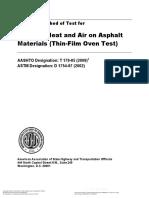 AASHTO T 179 2005 (R 2009)