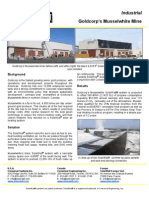 SolarWall Case Study - Goldcorp's Musselwhite Mine (mining industry) solar air heating system