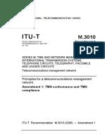 Recomendação M.3010 TMN_Alteração 1_T REC M.3010 200312 I!Amd1!PDF E