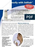 Salitair Salt Air Inhaler - Salt Therapy In Your Own Home!