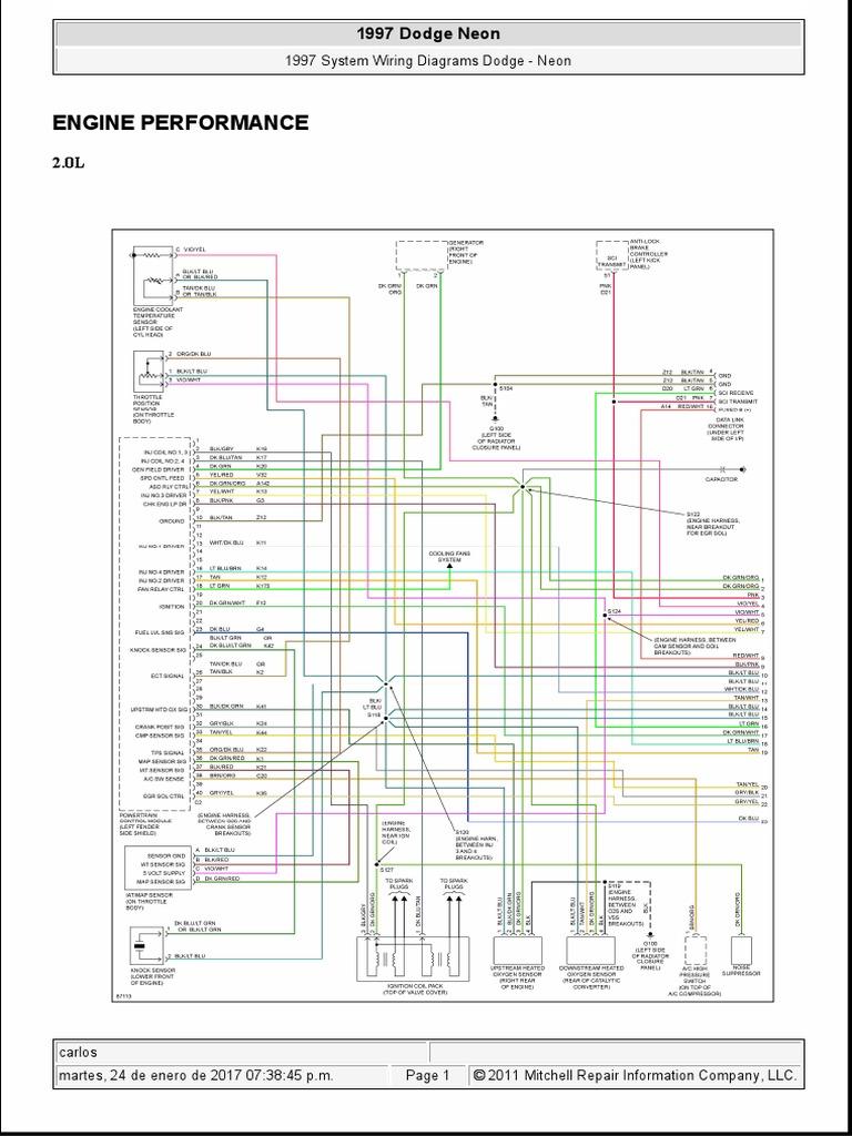 97 Neon Engine Diagram