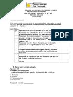 Modelo de Items de Opcion Multiple Para El Examen 2.Tercero